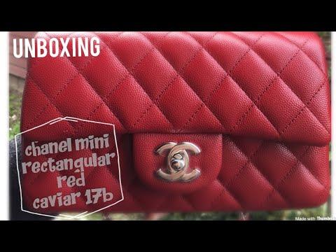 956db94d89512f Chanel mini rectangular caviar - 17B red - YouTube