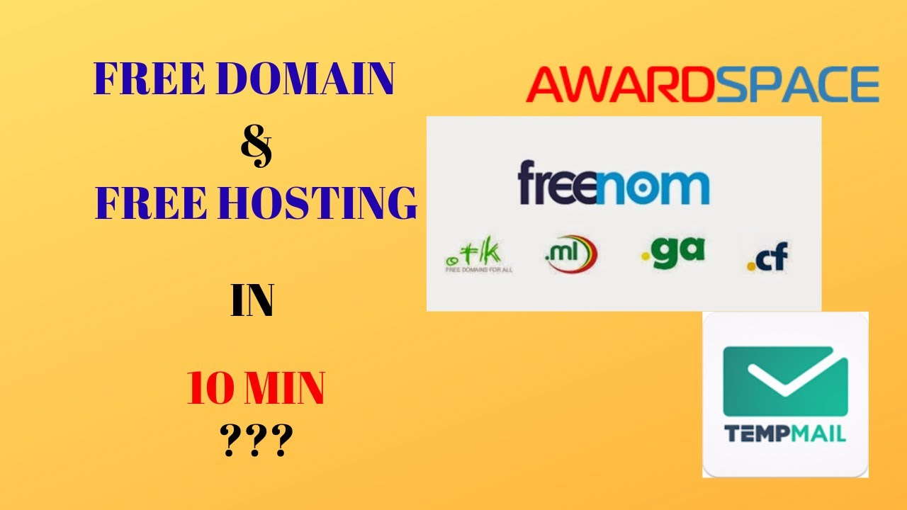 free domain and hosting: how to make website with free domain and free hosting | AwardSpace |freenom