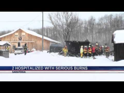 Saratoga couple badly burned in house fire