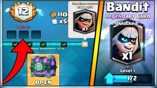 12-0 BANDIT DRAFT CHALLENGE | CLASH ROYALE BANDIT DRAFT CHALLENGE CHEST OPENING!