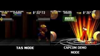 TAS Street Fighter EX2 PLUS - (BONUS BARREL) comparing with Capcom DEMO by Dowg-Fury