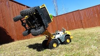 RC ADVENTURES - Loader Lifts Dump Truck
