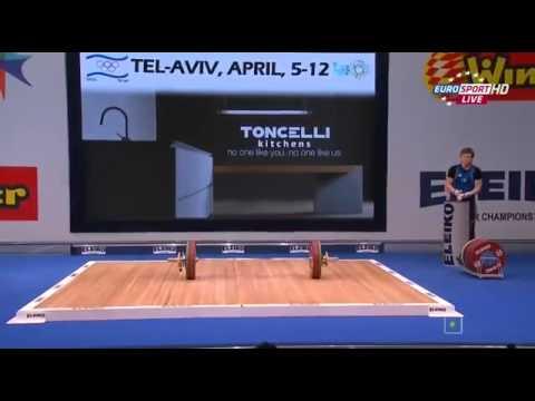 2014 European Weightlifting Championships Women's 75 kg Snatch Tel Aviv , Israel