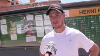 Matej Maruščák po prohře ve čtvrtfinále na turnaji Futures v Ústí n. O.