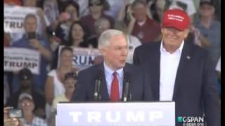 Sen Jeff Sessions at Trump Rally Free HD Video