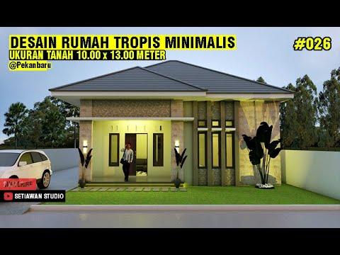 desain rumah 10x13 meter dengan 3 kamar tidur + mushala