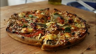Potato, Zucchini & Goat Cheese Mint Pizza - Gluten/egg Free/vegeterian
