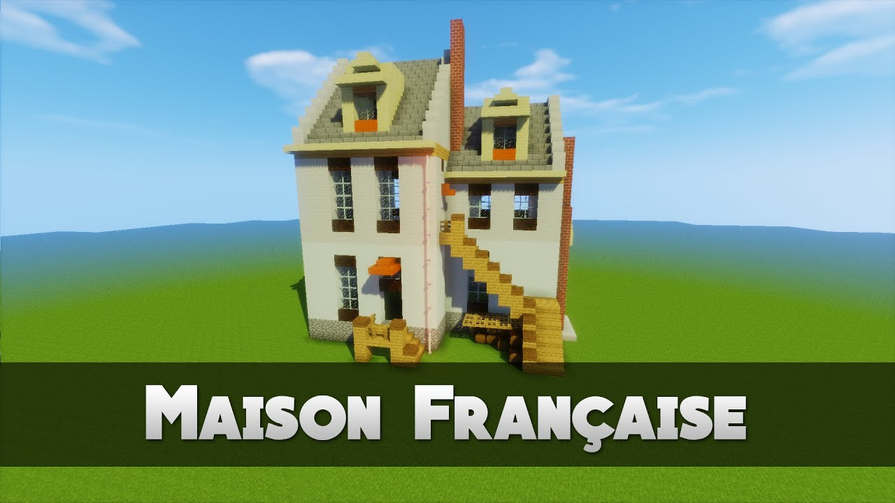 Tuto maison francaise minecraft youtube for Image construction maison