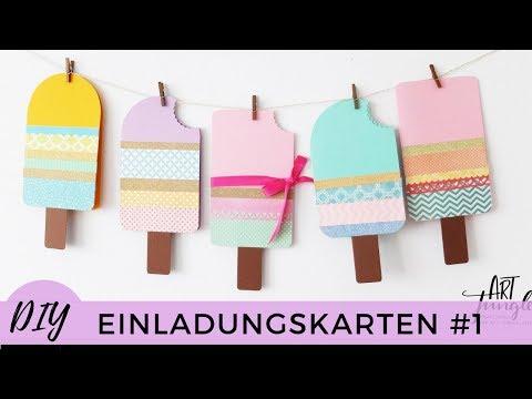 einladungskarten-selber-basteln-#1-–-kindergeburtstag---birthday-invitations-diy-–-tutorial---eis