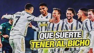 Cristiano Ronaldo Golazo y Doblete - Pirlo Qué pasa con Dybala? / Juventus vs Cagliari 2-0