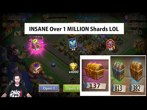 Opening 1300 LAVA 3 Chests LOL THE SHARDS ARE REAL! Castle Clash