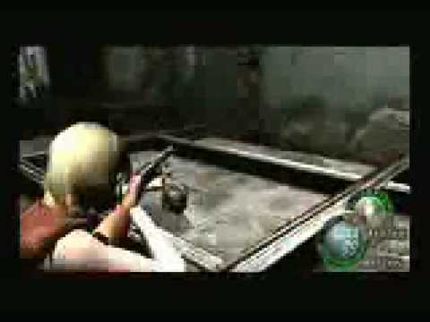 Resident Evil 4 Ashley using weapons