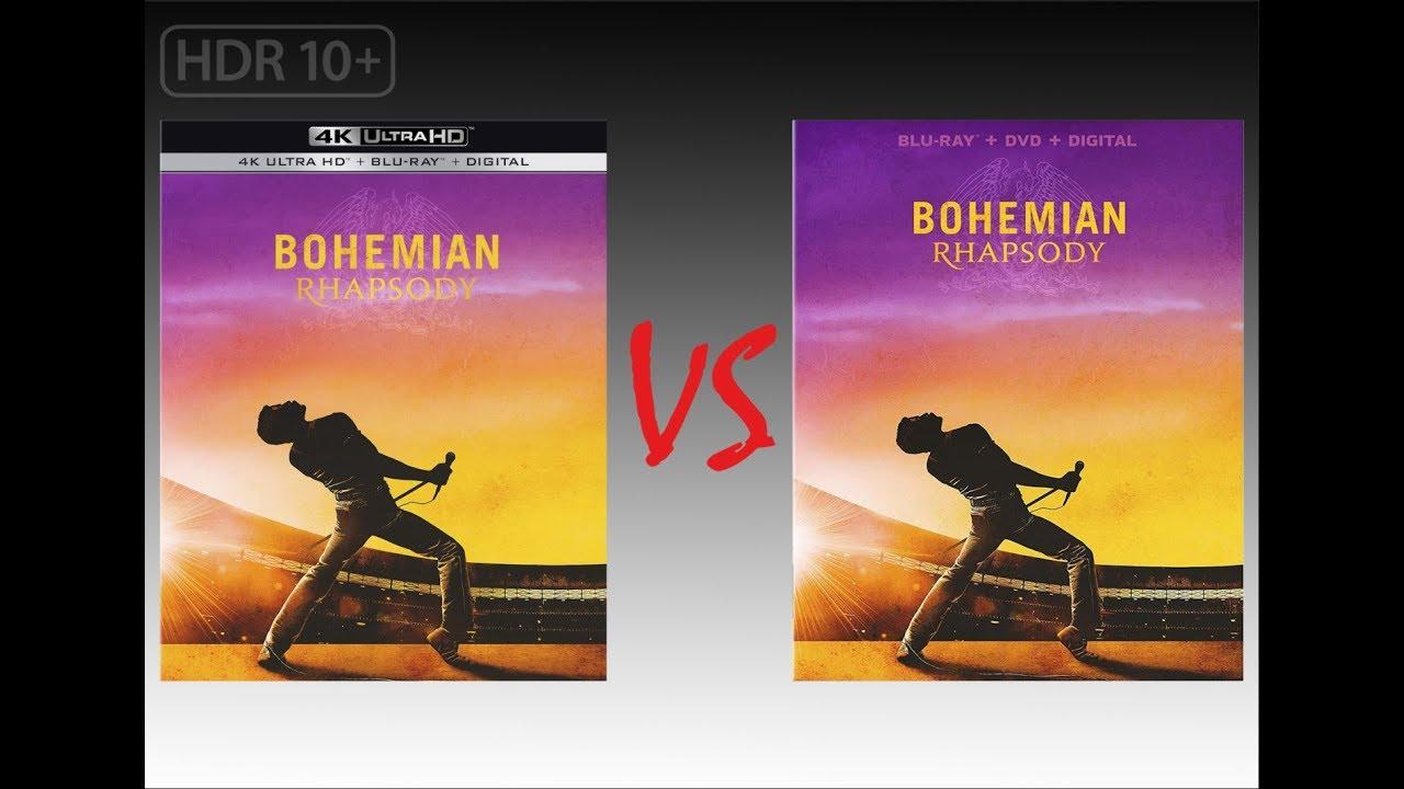 ▶ Comparison of Bohemian Rhapsody 4K HDR10+ (3 4K DI) vs Regular Blu-Ray  Edition
