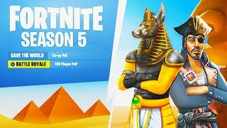 Fortnite SEASON 5 BATTLE PASS THEME SHOWCASE! (NEW Fortnite Battle Royale Season 5 Battle Pass)