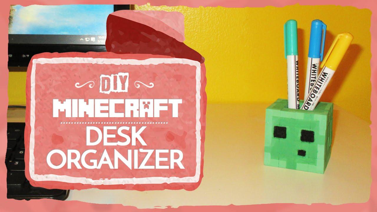easy dy tssue paper art room decor socraftastc.htm minecraft slime desk organizer  diy  by zailetsplay  minecraft slime desk organizer  diy