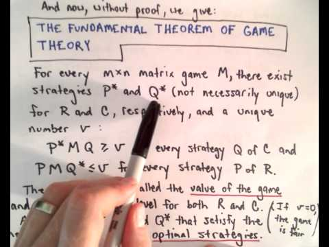 Game Theory , Part 6 ( Fundamental Theorem of Game Theory )