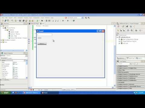 Learning to program Delphi tutorial 1 -  Hello World - Pascal - Rad Studio XE2