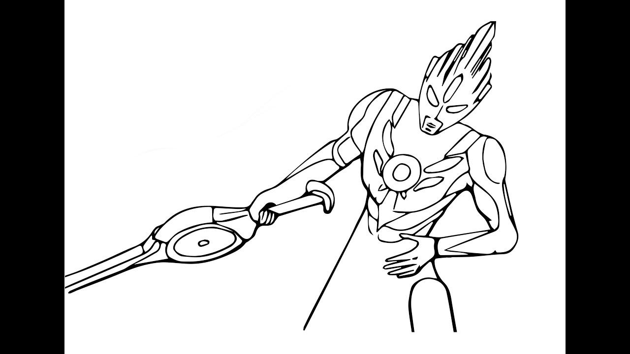 Cara Menggambar Ultraman Orb