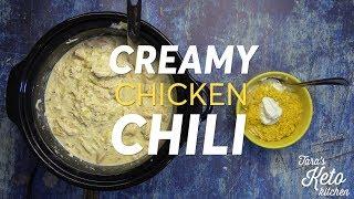 Keto Chicken Chili:Creamy Delicious Low Carb Chicken Chili (Easy)