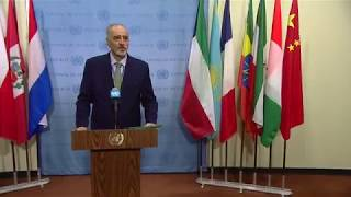 Bashar Jaafari (Syria) on the situation in the Middle East (Syria) - Media Stakeout (19 March 2018)