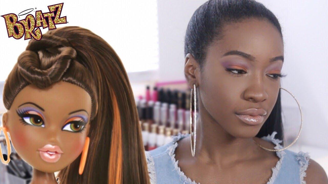 sasha bratz doll inspired makeup youtube