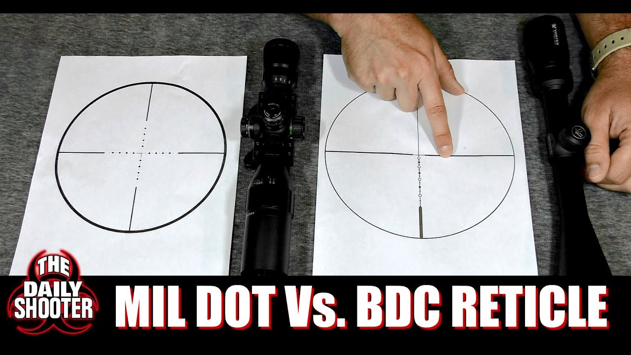 Mil Dot Vs Bdc Reticle Which One Is For You Youtube