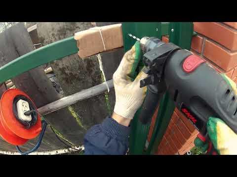 Как сделать забор из евроштакетника своими руками видео