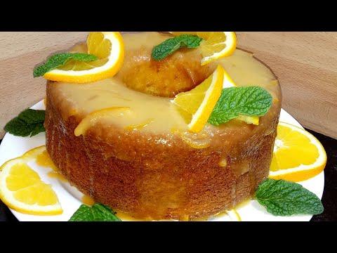 طريقة تحضير كيكة بصلصة البرتقال الشهية