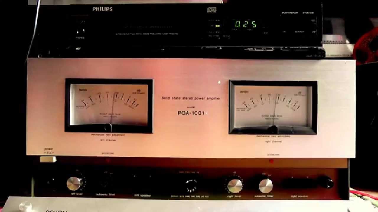 Denon Poa 1001 Power Amplifier Vintage 1976 Youtube