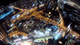 View from Burj Khalifa observation deck - Timelapse