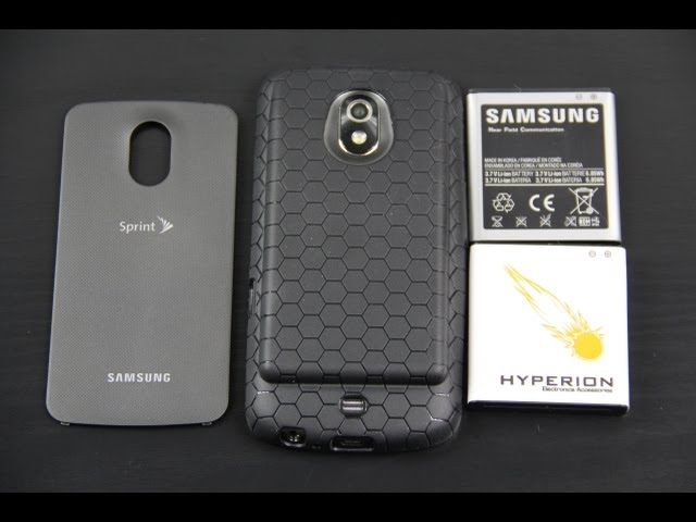 Hyperion Samsung Galaxy Nexus 3800mAh Extended Battery with Black HoneyComb TPU Case
