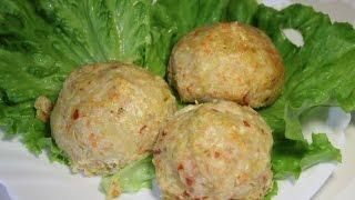 Диетические котлеты с овощами / Chicken cutlet with vegetables | Видео Рецепт