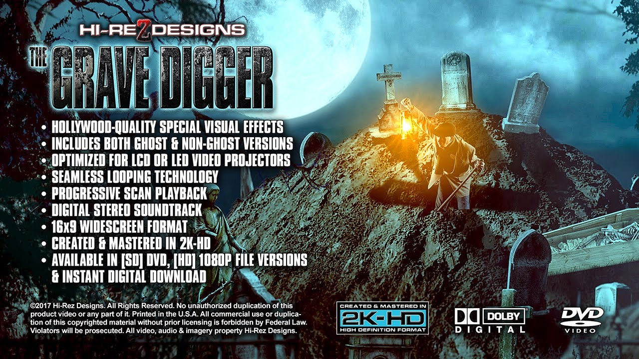 THE GRAVE DIGGER - VISUAL FX DEMO / SAMPLE - NEW FOR 2017 - YouTube
