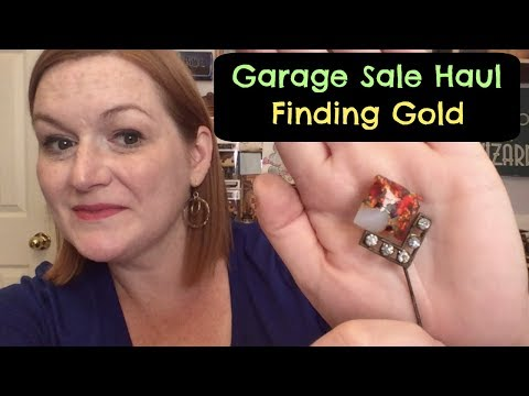 Finding Gold! Massive Jewelry Haul! Live Garage Sale Haul -