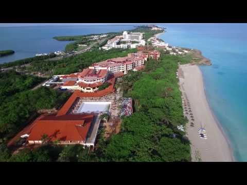 DJI Phantom 3 drone flying over Varadero beach, Cuba