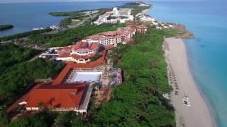 DJI Phantom 3 drone flying over Varadero beach, Cuba streaming