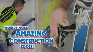 How this Drywall Construction Worker Tool coats corners in seconds