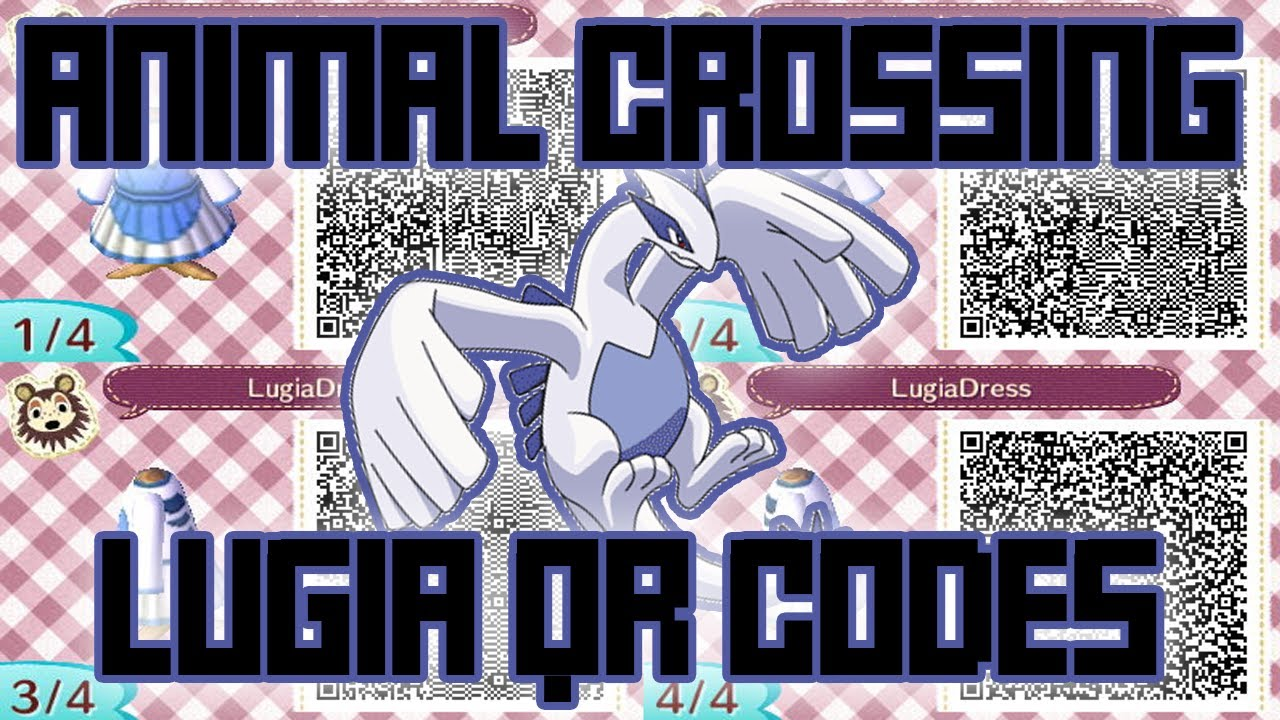 Animal Crossing: New Leaf - Pokemon Lugia Clothes QR Codes