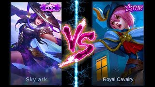 Fanny Skylark VS  Royal Cavalry [Skin and Skill Effect] Mobile Legends Bang-bang
