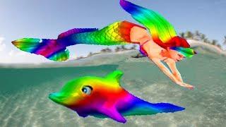 Барби и волшебные дельфины Барби спасает дельфинов Сборник  ВСЕ РАДУЖНЫЕ ЗВЕРИ #МалинкиDOLL
