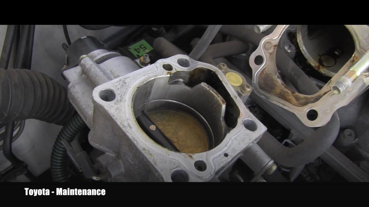 97 Toyota 4runner Throttle Body Cleaning Youtube