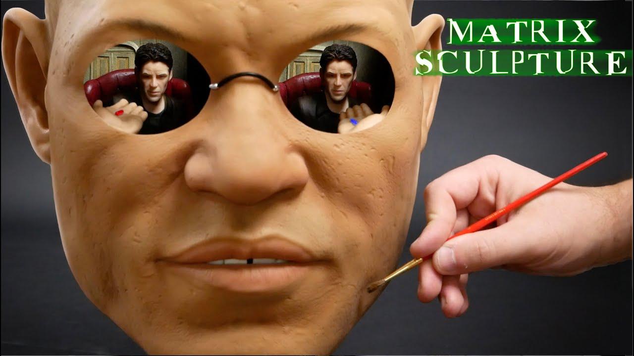 Morpheus and Neo Sculpture Timelapse - The Matrix