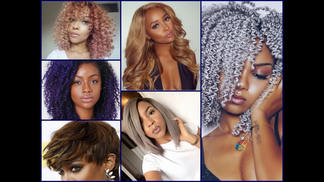 New Hair Color For African American Women New Hair Color Trends Youtube