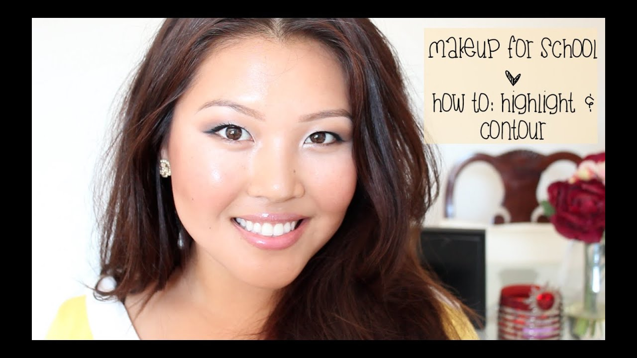 Simple makeup for school using the naked palette how to highlight simple makeup for school using the naked palette how to highlight and contour youtube baditri Images