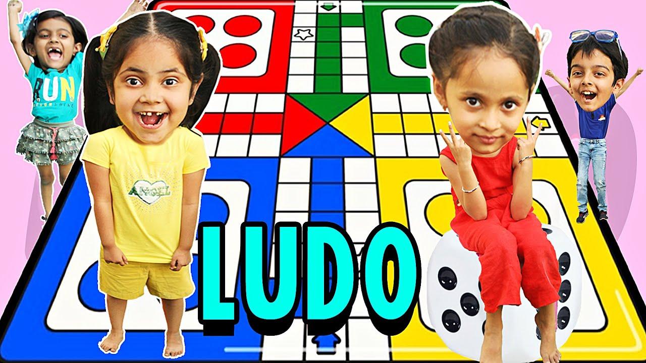 Kids Playing Giant LUDO   ToyStars