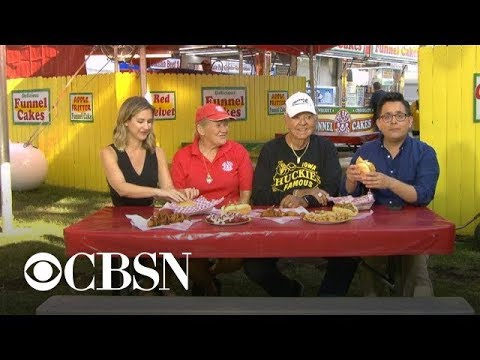 Iowa State Fair combines fried food and political speeches - CBS News thumbnail