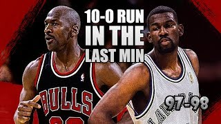 Michael Jordan vs Michael Finley Highlights Bulls vs Mavs (1998.03.12)-57pts,Epic Comeback by Mavs!