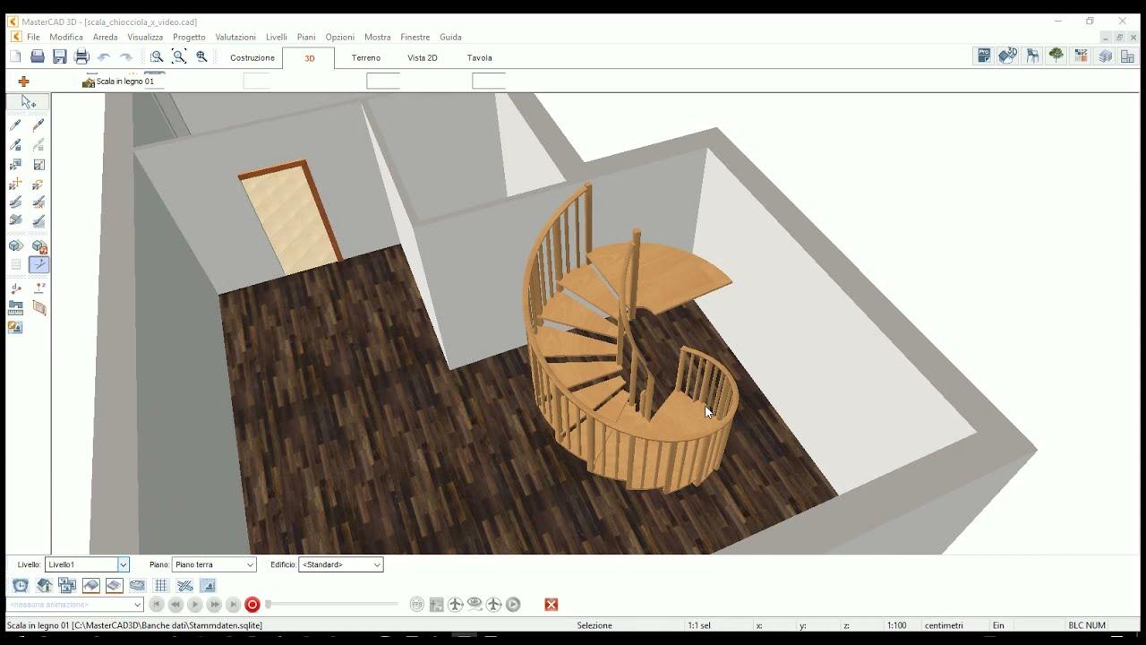Disegnare Una Scala A Chiocciola www.systems.it - le scale di mastercad 3d