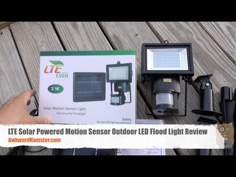Lte solar powered motion sensor outdoor led flood light review youtube lte solar powered motion sensor outdoor led flood light review mozeypictures Image collections