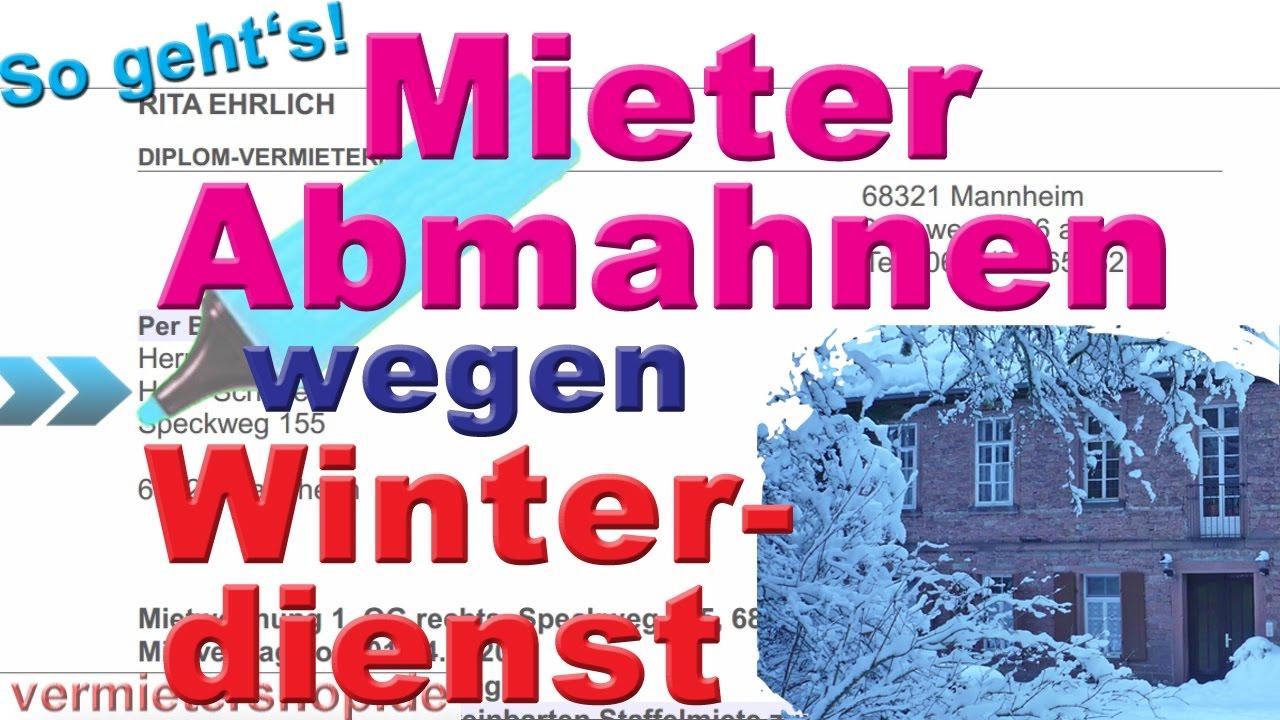 Winterdienst Pflichten Für Mieter Abmahnung Schadenersatz